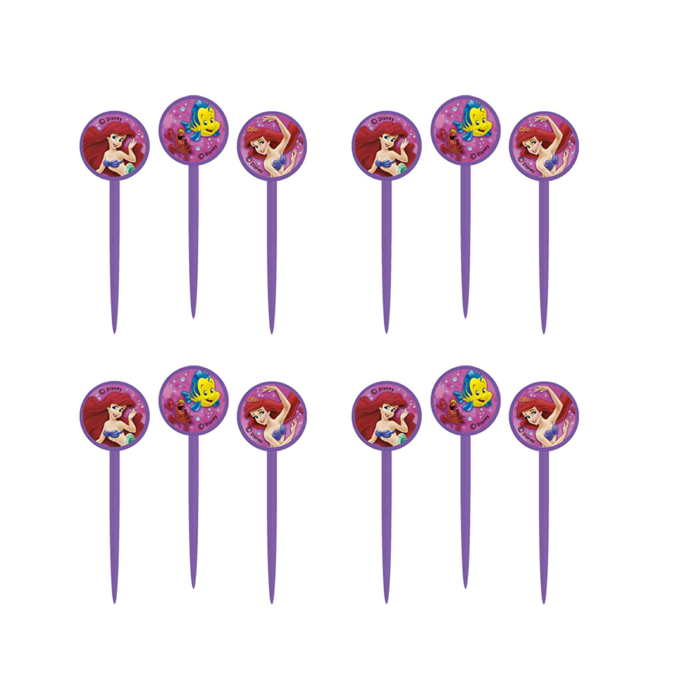Ariel The Little Mermaid Cupcake Toppers Picks 12ct Walmart Com