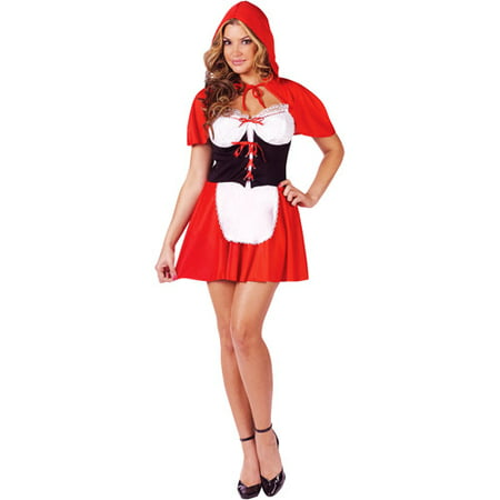 Red Hot Hood Adult Halloween Costume](Hot Cherry Pie Costume)