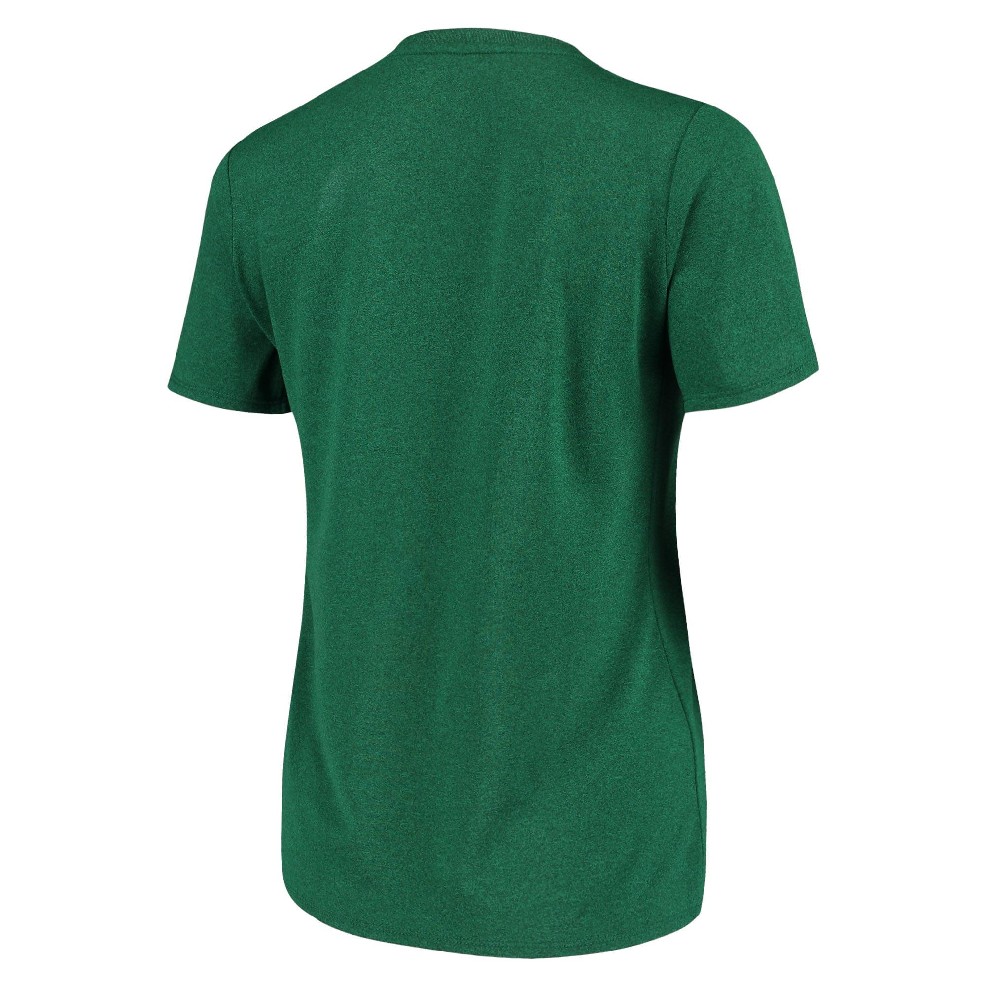 c2b59930c490 Boston Celtics Nike Women s Team Name Performance V-Neck T-Shirt - Kelly  Green - Walmart.com