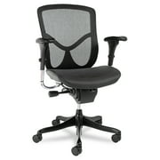Alera EQ Series Ergonomic Multifunction Mid-Back Mesh Office Chair, Black Base