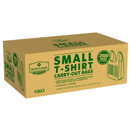 Grocery   Convenience Store Small T Shirt Bag  2 000Ct
