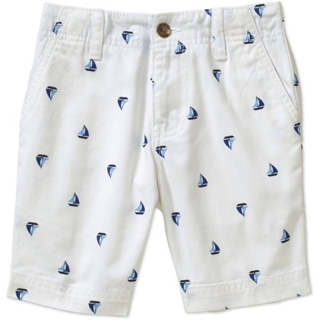 Faded Glory Boys' Flat Front Printed Shorts