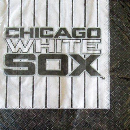 MLB Chicago White Sox Lunch Napkins (24ct) - Baseball Napkins