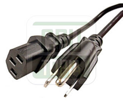 Power Cord 6ft. C13 Standard Power Cable for Computer//Printer//Monitor//etc.