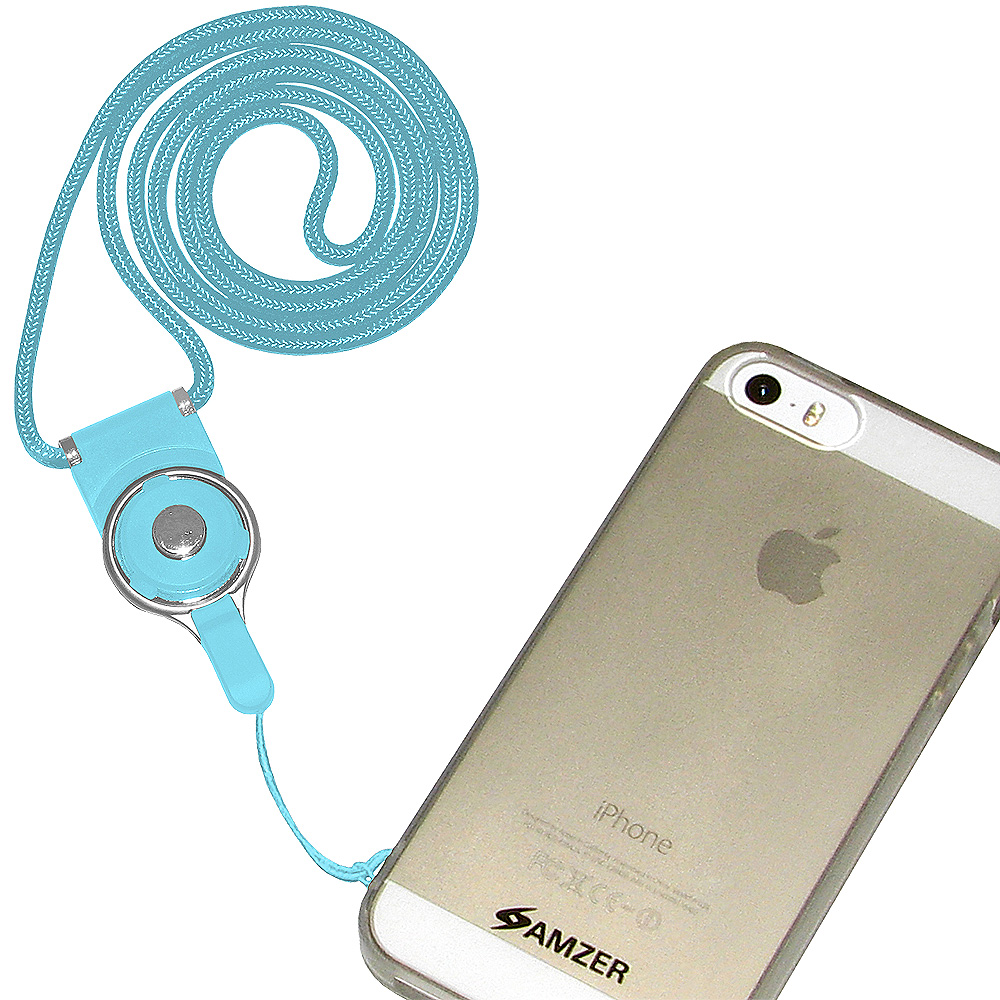 Detachable 32 inch Cell Phone Neck Lanyard - Light Blue
