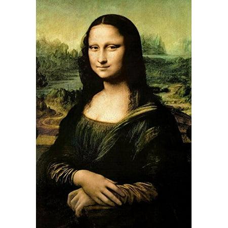Mona Lisa by Leonardo Da Vinci 36x24 Museum Art Print Poster Famous Painting - Mona Lisa Framed