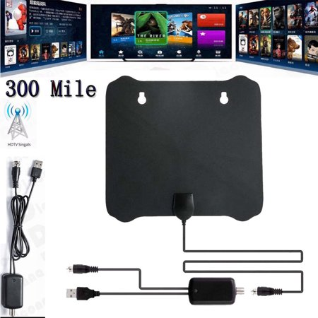 300 Mile Range Antenna TV Digital HD Skywire 4K Antena HDTV 1080p with