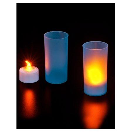 New Faux Flame Safe Halloween Pumpkin Jack-O-Lantern LED Candle Decoration - Tf Halloween