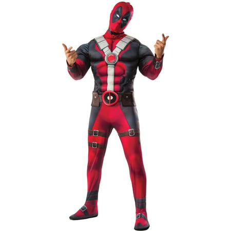 Men's Deluxe Muscle Chest Deadpool Costume - Deadpool Maid Costume