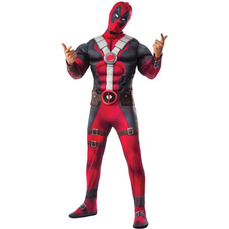Deadpool Costume For Women (Deadpool Movie Deluxe Men's Adult Halloween)