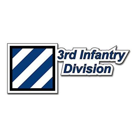 United States Army 3rd Infantry Division Decal Bumper Sticker