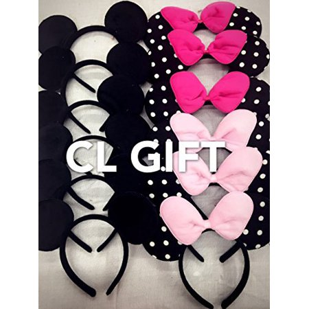 12 Pc pink sequin Color Minnie Mouse or Mickey or Mix_for Dress up Minnie Mouse Theme Birthday, Mickey Mouse Party