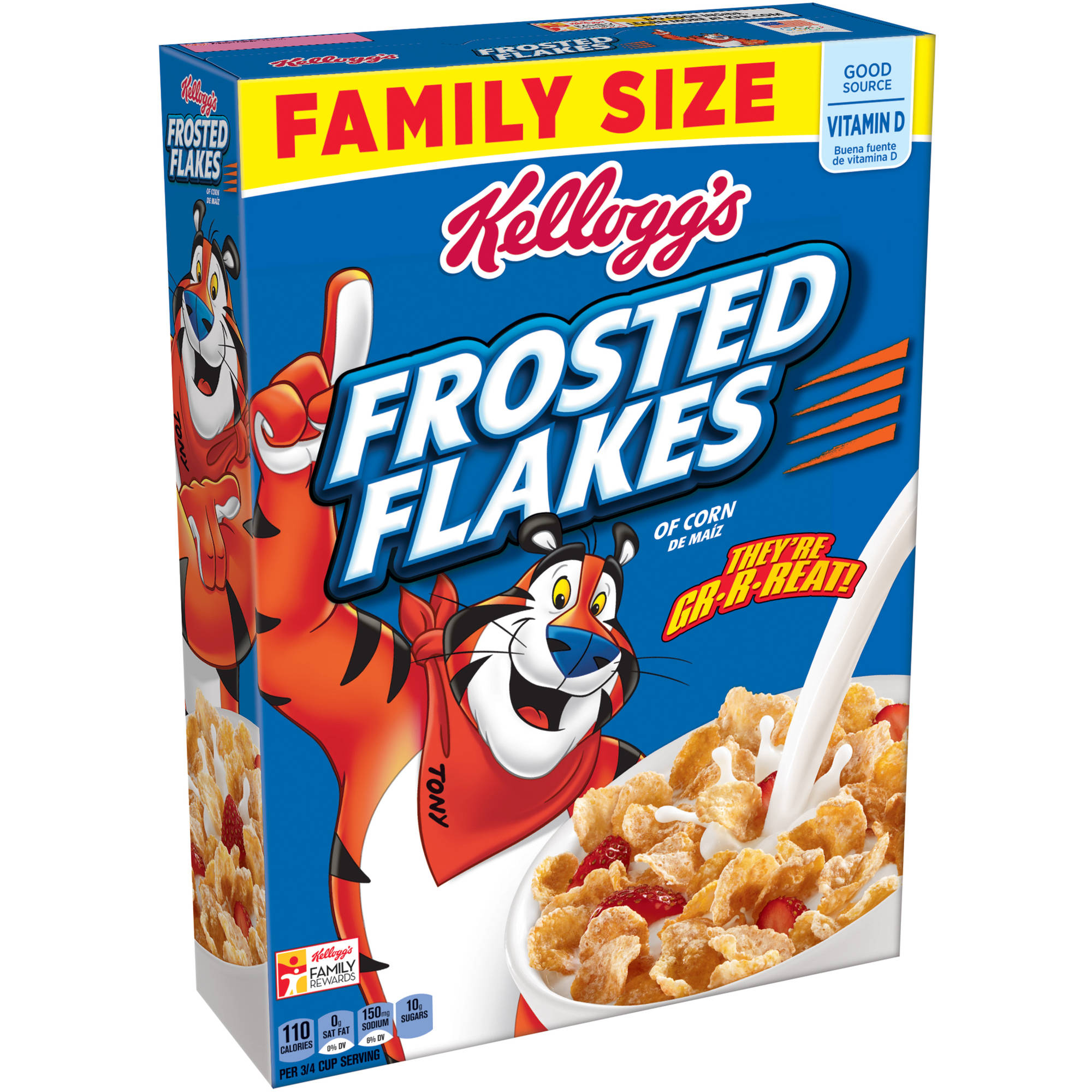 Kellogg's Frosted Flakes Cereal Family Size, 26.8 oz