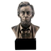 8 Inch Cold Cast Bronze Colored Resin President Abraham Lincoln Bust