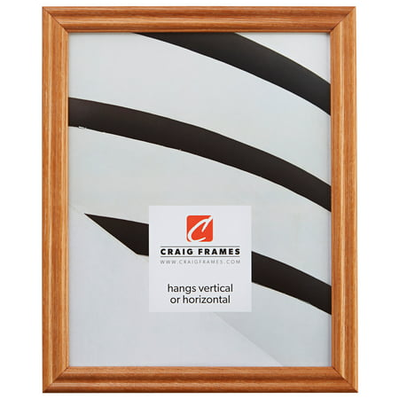 Craig Frames Wiltshire 200, Traditional Light Brown Hardwood Picture Frame, 9 x 23 Inch