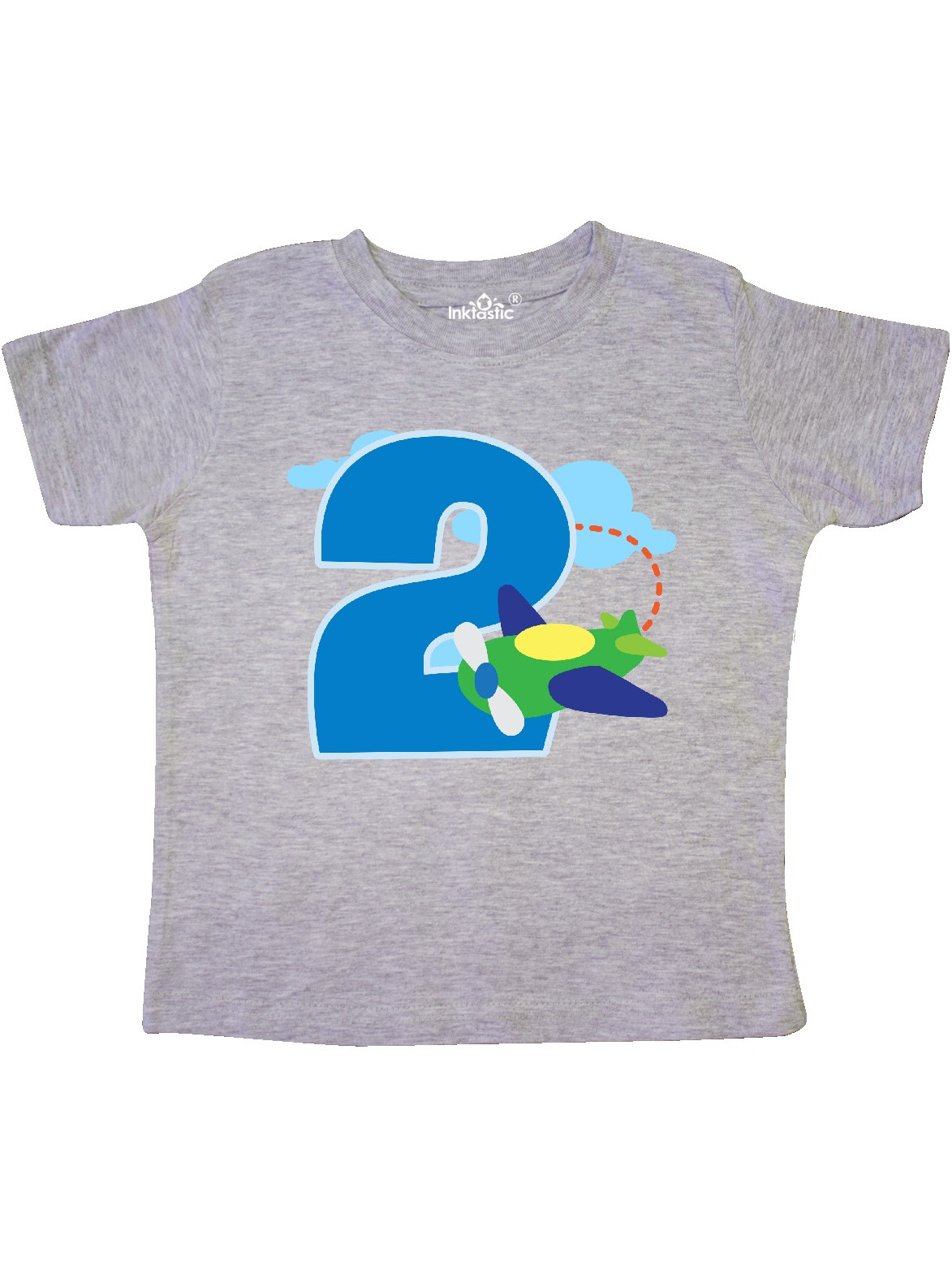2nd Birthday Airplane Boys 2 Year Old Toddler T-Shirt