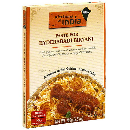kitchens of india hyderabadi biryani paste 3 5 oz pack of 6