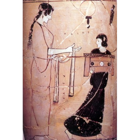 0fc4b33199661 Ancient Greek Woman with Maid 460 BC Stretched Canvas - Science Source (24  x 36) - Walmart.com