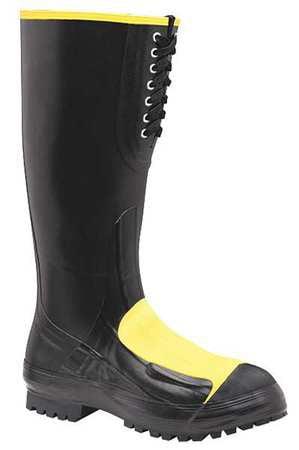 Lacrosse Size 11 Steel Toe Rubber Boots, Men's, Black, 228050