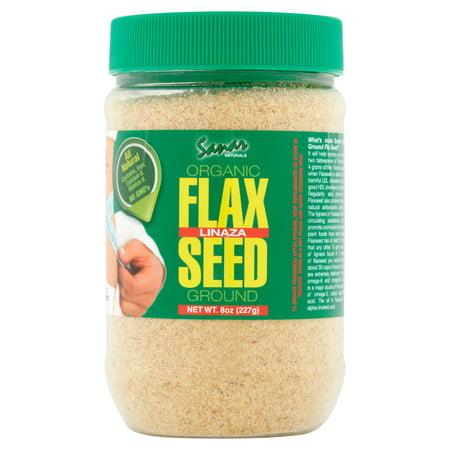 Sanar Naturals Organic Ground Flaxseed, 8 Ounce - Semilla de Lino Molidas, Linaza, Great Source of Omega 3,6,9, Dietary Fibers, Lignans, and