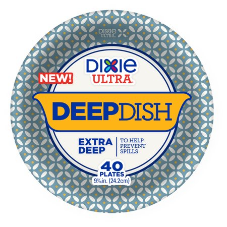 Dixie Ultra Deep Dish Paper Plates, 40ct