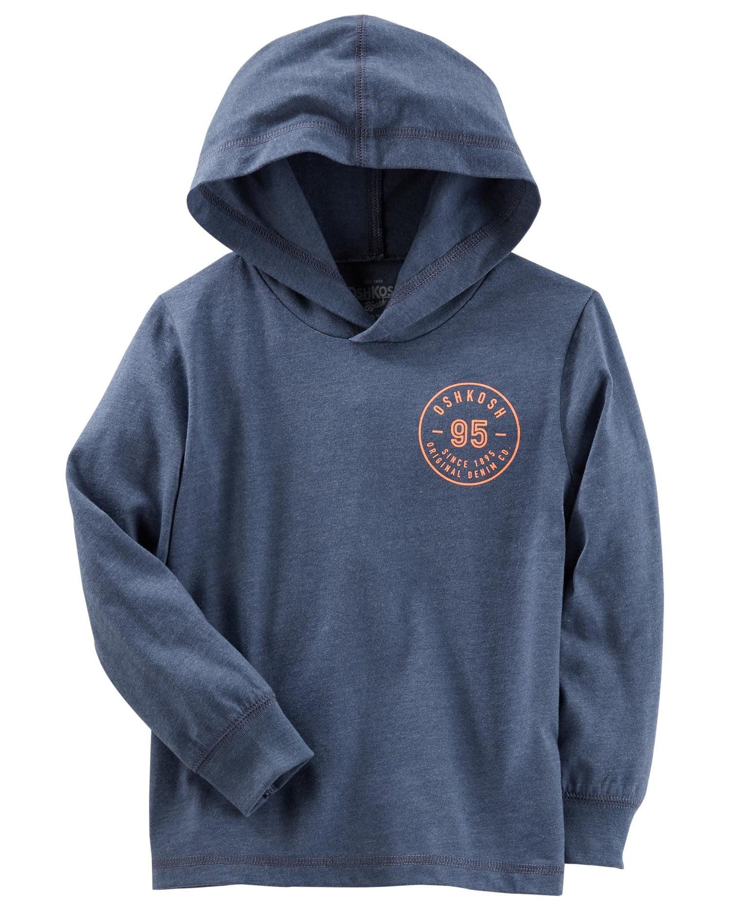 OshKosh B'gosh Little Boys' Logo Pullover, Blue, 4-5 Kids