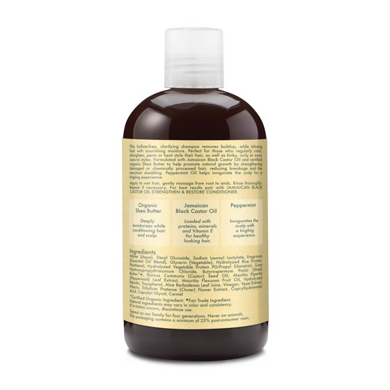 Jamaican Black Castor Oil Strengthen & Restore Shampoo - Moisturizes Scalp  and Softens Thick, Curly Hair- Sulfate-Free with Natural & Organic
