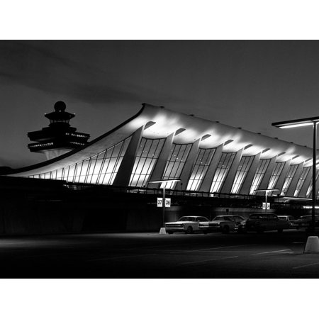 A Building at Dulles International Airport Print Wall Art By Rip Smith (Dulles International Airport)