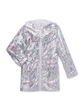 Wonder Nation Girls Sequin Rain Jacket (Big Girls, Little Girls, Plus)