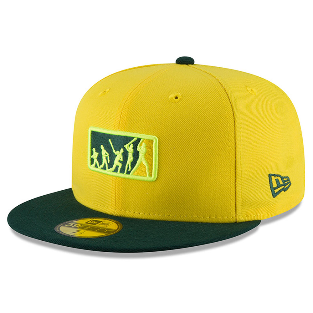 Oakland Athletics New Era 2018 Players' Weekend Team Umpire 59FIFTY Fitted Hat - Yellow/Green