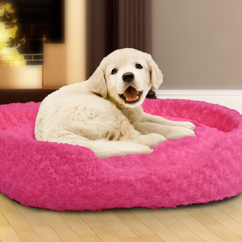 how to make a round fleece dog bed