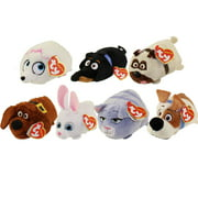 TY Beanie Boos - Teeny Tys Stackable Plush - Secret Life of Pets - SET OF 7 (4 inch)
