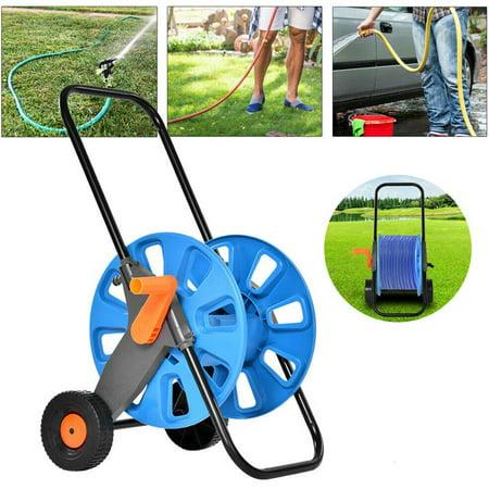 Portable Garden Water Hose Pipe Reel Holder Trolley Cart for Watering Garden Truck