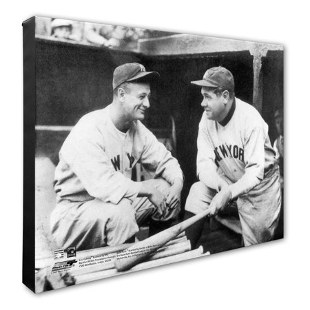 "Lou Gehrig and Babe Ruth New York Yankees 16"" x 20"" Player Canvas - No Size"