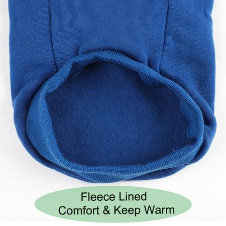 Cotton Dog Winter/Spring/Fall Sweatshirt Hoody Pet Clothes Warm Coat Blue XXL - image 4 of 7