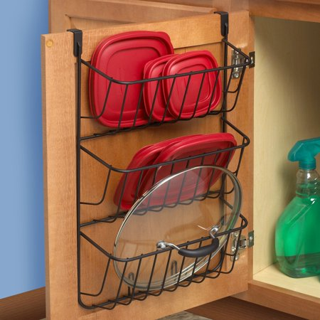 Spectrum Diversified Over the Cabinet 3 Tier Lid Holder