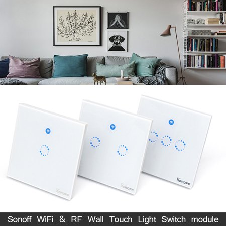 SONOFF T1 1-3 Gang AC 90V-250V 600W WiFi And RF 86 Type UK