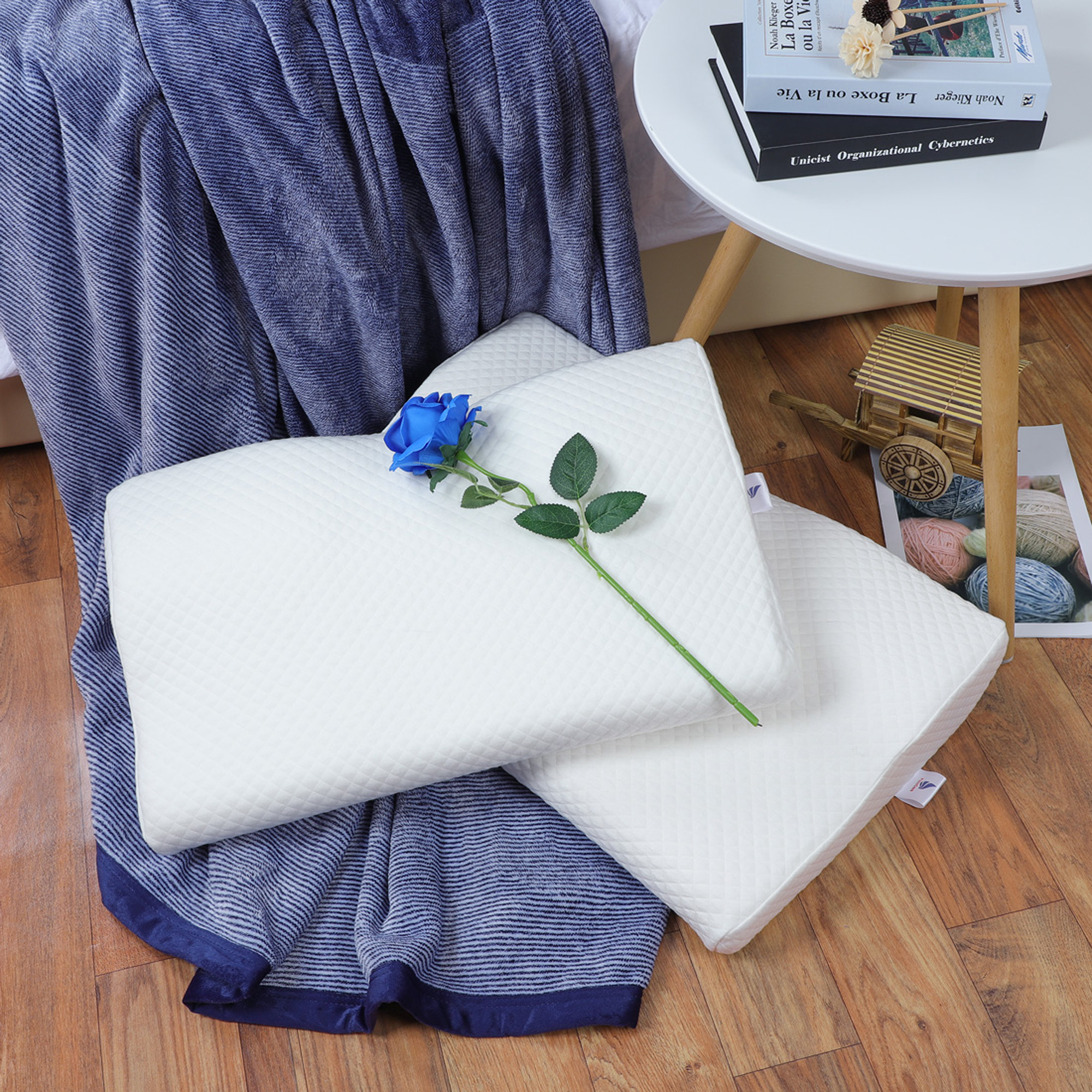 Contoured Memory Foam Cervical Pillow for Side Back Sleepers
