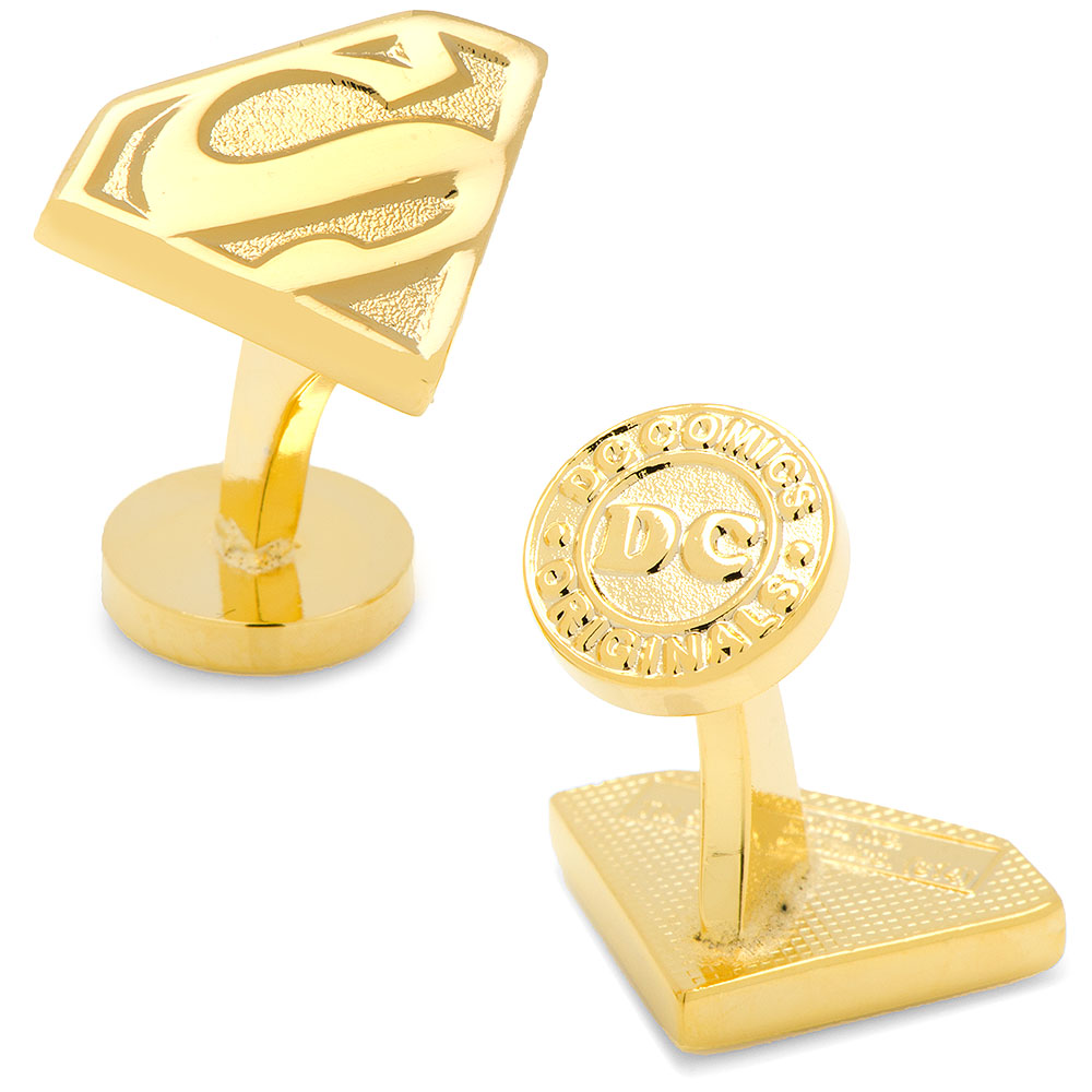 Gold Superman Shield Cufflinks