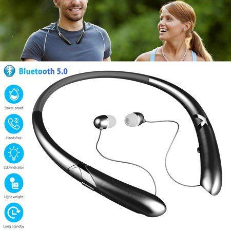 Bluetooth Headset, Hands Free Wireless Earpiece V4.0 with Noice reduction Mic for