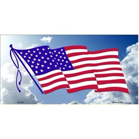American Flag Cloud Background License Plate - image 1 of 2