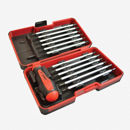Felo 32094 13 piece Metric Smart Box - Slotted, Phillips, Pozidriv, Hex, Torx Tip Blades with (Pozidriv Tip)