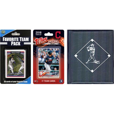 MLB Cleveland Indians Licensed 2018 Topps® Team Set and Favorite Player Trading Cards Plus Storage Album