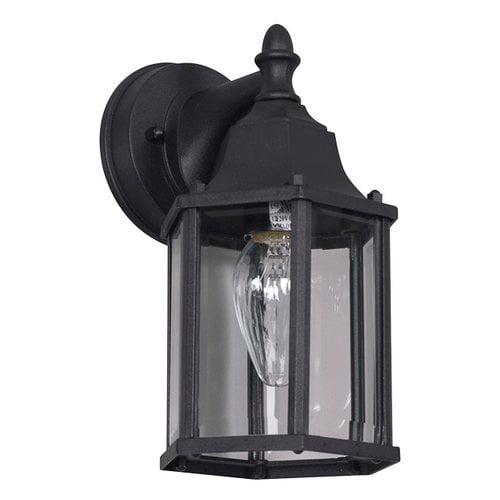 Charlton Home Bratcher 1 Light Outdoor Wall Lantern Walmart Com Walmart Com