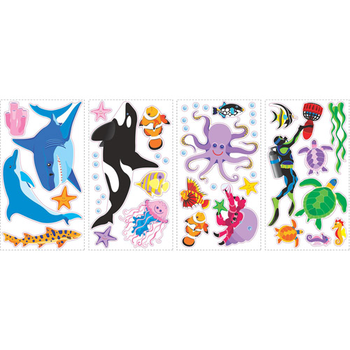 Awesome Ocean Peel and Stick Wall Decals