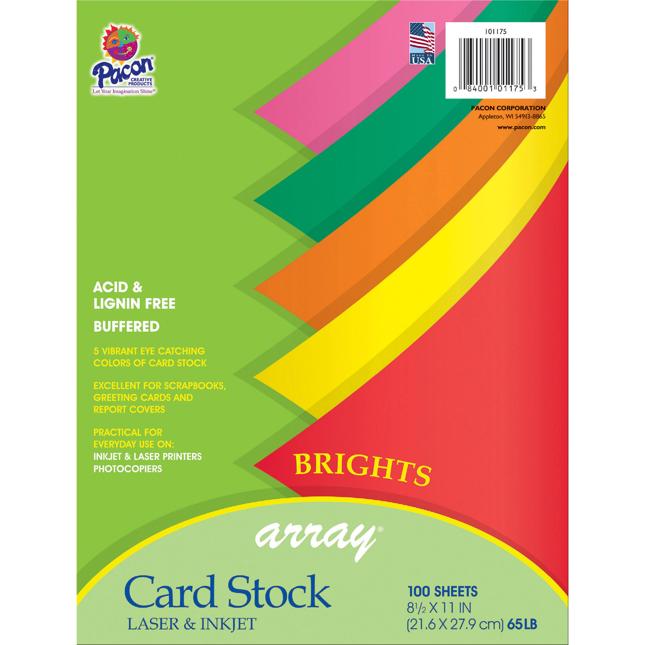 Array® Card Stock, Bright Colors, 100 Sheets