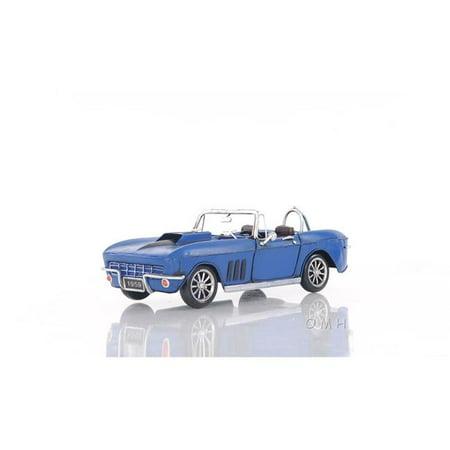 OLD MODERN HANDICRAFTS AJ039 Blue Chevrolet Corvette Sting Ray Sports Car - image 1 de 1