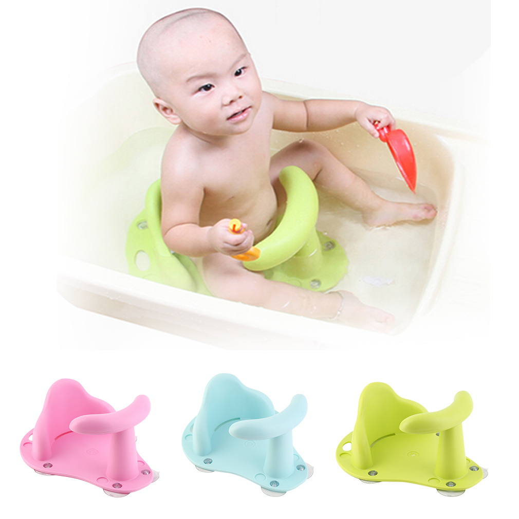OUTAD - Baby Bath Tub Ring Seat Infant Child Toddler Kids Anti Slip Safety Chair