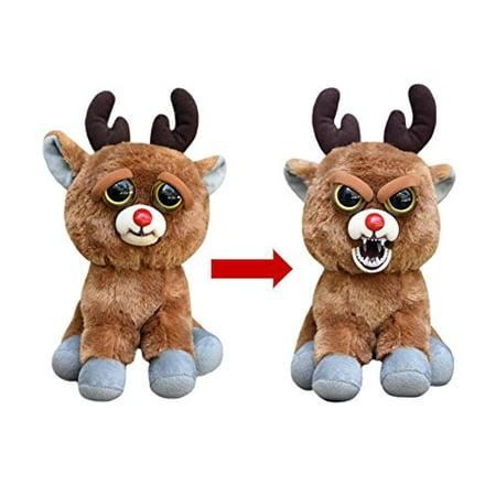 Feisty Pets Rude Alf the Blood Nosed Reindeer Plush Figure - Stuffed Reindeer