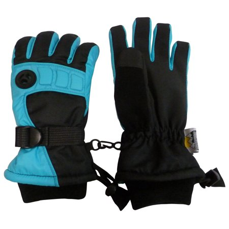 NICE CAPS Mens Extreme Cold Weather Winter 80 Gram Thinsulate Premier Colorblock Waterproof Ski Snow Glove with Air Hole